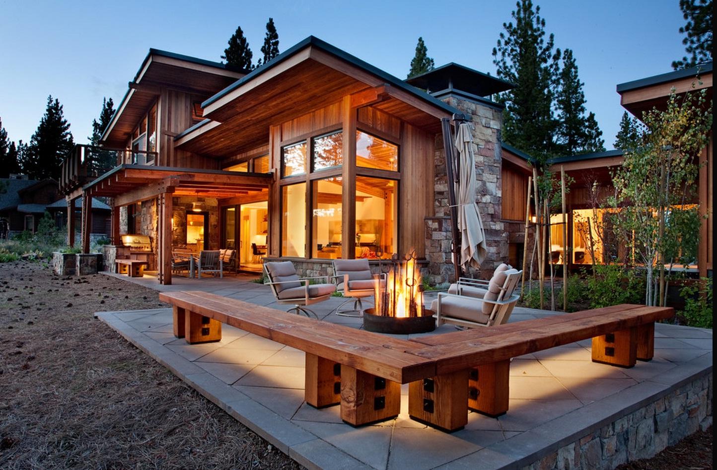стиль деревянного дома