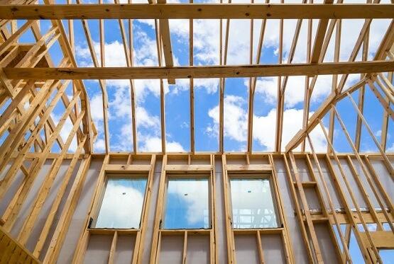 деревянный сборно-каркасный дом