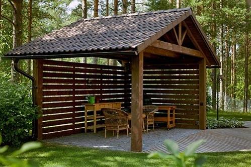 Строительство беседки на даче — отличный отдых на природе