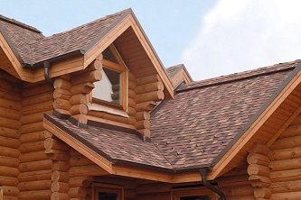 крыша для дома из бревна