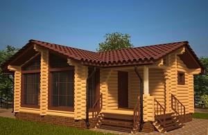 одноэтажные дома из оцилиндрованного бревна