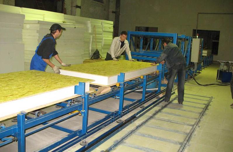 Завод по производству готовых сэндвич панелей, специфика работы