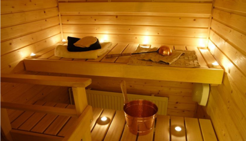Особенности освещения в бане.
