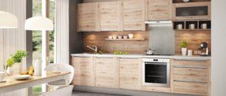 Кухня с деревянным фасадом